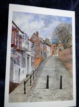 VINTAGE POSTCARD STEEP HILL LINCOLN CUPPLEDITCH CHARLES SKILTON & FRY UNPOSTED